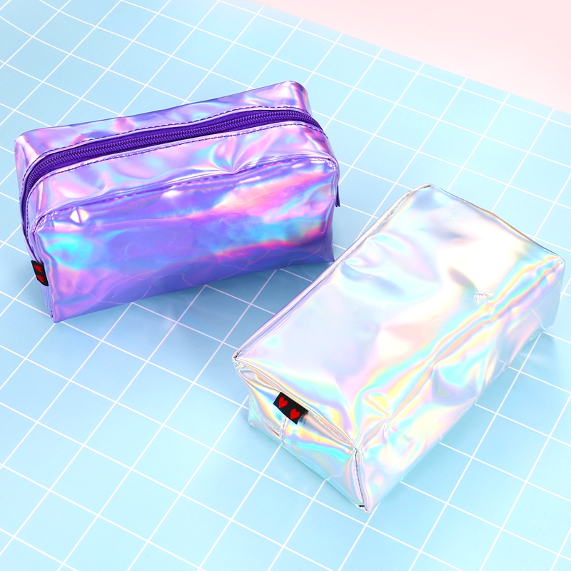 Holographic Laser Pencil Case For Girls School Pencil Bag Super Shiny Big Pencil Box Stationery Pouch Office School Supplies