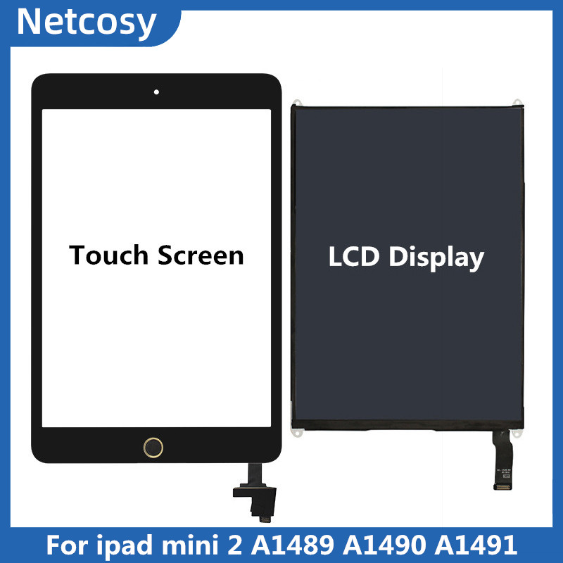 For Ipad Mini 2 A1489 A1490 A1491 Touch Screen Digitizer Panel With IC Connector / LCD Display Screen Repair For Ipad Mini 2