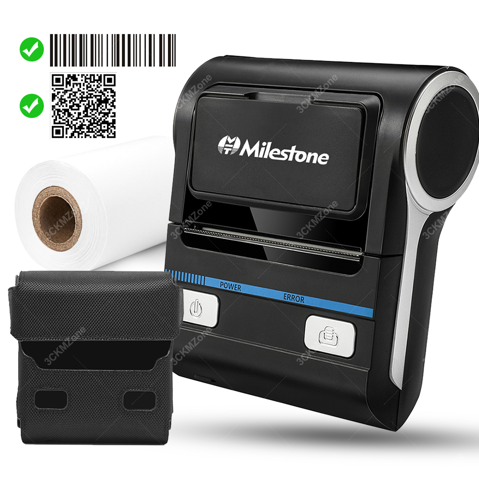 Android Thermal Printer 80mm 3 inch Portable Bluetooth Android POS Computer Receipt Bill Printet for Retail Small Business