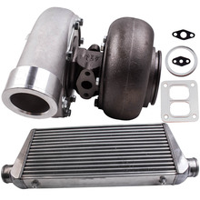GT45 Turbolader 1.05 A/R 600+HPS Turbo Charger Turbine + 600x300x76mm Intercooler 3