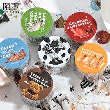 Stickers-Supplies Masking Washi-Tape Journal Kawaii Stationery Ranch Diary-Series PET