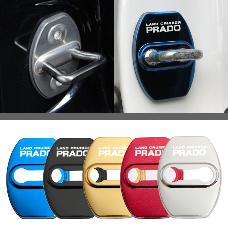 Отделка дверного замка Защитная крышка флаги чехол с эмблемой для Toyota prado 120 fj150 land cruiser 80 аксессуары для стайлинга автомобилей