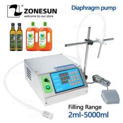 ZONESUN одно сопло устройство Наполнения Бутылок водой полуавтоматический жидкий флакон настольная машина для наполнения сок напитки масло