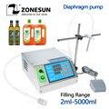 ZONESUN мембранный насос, маленькая бутылка, наполнитель воды, полуавтоматическая машина для наполнения чернилами, соком, напитком, маслом, фла...