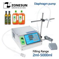 ZONESUN Diaphragm Pump Small Bottle Alcohol Filler Semi-automatic ink Juice Beverage Oil Perfume Vial Liquid Filling Machine