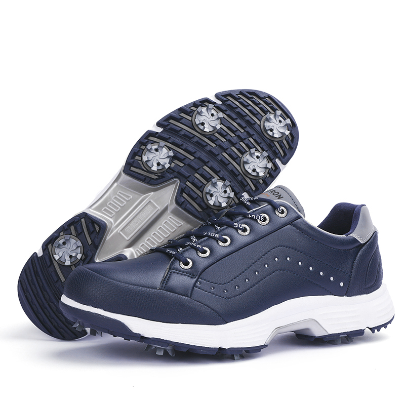 Men Professional Golf Shoes Waterproof Spikes Golf Sneakers Black White Mens Golf Trainers Big Size Golf Shoes for Men 14