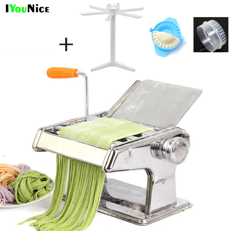 IYouNice Free Shipping Stainless Steel Manual Pasta Maker Noodle Making Machine , Vegetable Noodle Maker Machine Tool image
