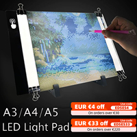 A5/A4 /A3 LED Licht Pad Bord 5d Diamant Malerei Tracing Kopie Bord mit 3 Ebene Helligkeit USB powered Zeichnung Tablet