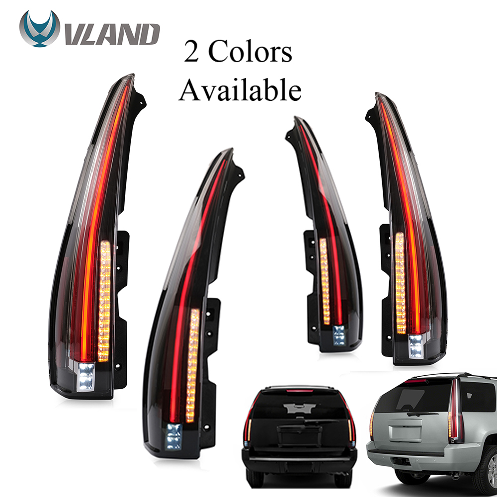 VLAND Car Accessories Tail Lights Assembly For GMC Yukon 2007-2014 Chevy Tahoe/Suburban Tail Lamp Turn Signal Reverse Lights