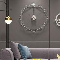 Relógio de parede 50cm  moderno  silencioso  clássico  breve  relógio de parede para casa  escritório  decoração  sala de estar  metal  relógio de parede