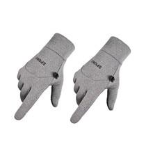 Мужские зимние теплые перчатки, водонепроницаемые ветрозащитные перчатки с сенсорным экраном для езды на велосипеде, утолщенные универсальные велосипедные защитные перчатки