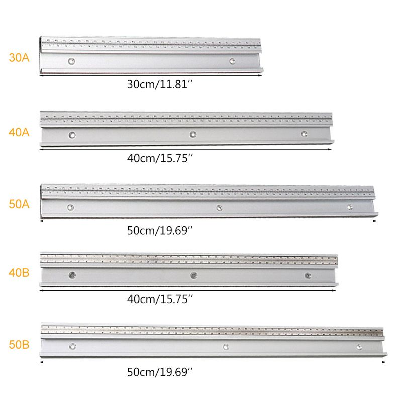 45Type T Track With Scale T-tracks Slot Miter Track DIY Table Saw Workbench Tool M89B