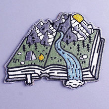 Outdoor Natural Mountain Patches DIY Books Embroidered Patches for Clothes Patch Applique Iron on Patches for Jacket Clothing