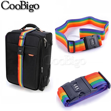 Belt-Tag Luggage-Strap Nylon Packing-Suitcase Travel-Accessories 2pcs 200CM 3-Digits