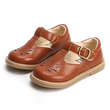 Girl's T-Strap Mary Jane School Uniform Shoes for Kids Baby