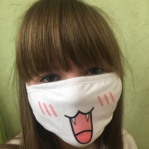 Image 4 - Hot Sale White Cotton Kawaii  Dustproof Mouth Face Mask Anime Cartoon Women Men Sexy Party Mask Face Mouth Masks Supply