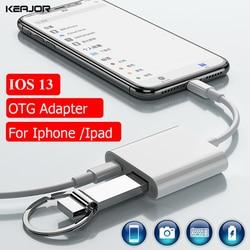 Wielofunkcyjny Adapter do iphone'a 11 Pro Max Lightning na kabel USB OTG IOS 13 konwerter danych do iphone'a Ipad