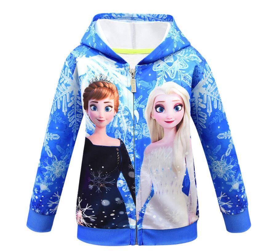 Куртка с капюшоном для девочек и малышей, пальто Disney «Холодное сердце», Анна, Эльза, принцесса «Снежная королева», верхняя одежда, весна-осен...