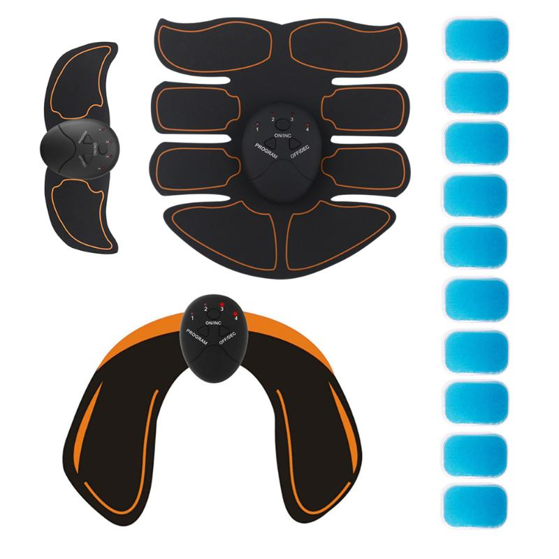 Muscle Electric Stimulator Trainer Fitness Abdominal Training Massager Building Body Hip Workout Machine