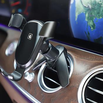 Uchwyt samochodowy na telefon klip odpowietrznik uniwersalny 17mm głowica kulowa 360 Gravity Windshied wspornik stojakowy uchwyt samochodowy na telefon magnetyczny tanie i dobre opinie CAR-partment CN (pochodzenie) Black Dropshipping Hook type outlet clamp 17mm connector holders