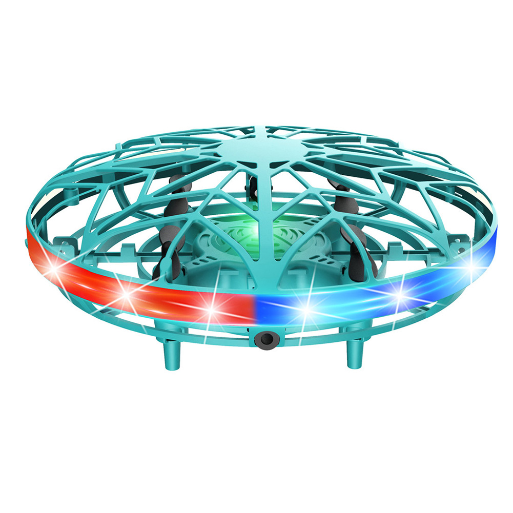 RC Drone Toy Mini Indoor Outdoor Flying Helicopter UFO Infrared Induction USB Rechargeable Hand Control LED Light Wear Resistant