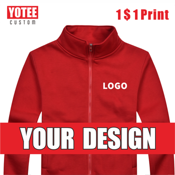 YOTEE2020 autumn and winter casual high quality stand-up collar zipper jacket custom logo embroidery men and women tops цена 2017