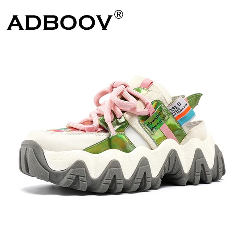 Nuevas sandalias de plataforma sin talón ADBOOV, moda de verano para mujer, zapatos casuales gruesos, zapatillas de deporte para mujer Nuevas Sandalias de plataforma ADBOOV, Sandalias gruesas de verano de suela gruesa para Mujer, Sandalias planas de 2 piezas, Sandalias de Mujer 2019