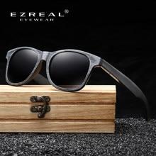 EZREAL-lunettes de soleil en bambou et en bois, faites à la main, monture de Protection polarisée pour hommes, portée mondiale, tendance, Simple, avec boîte en bois