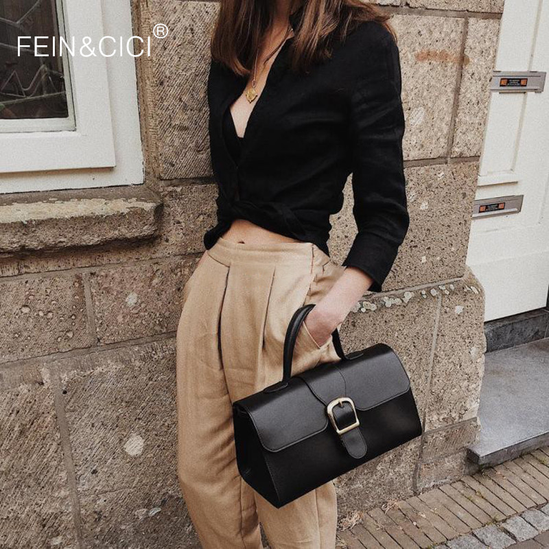 Women Vintage Black Satchel Totes Handbag Camel Brown Retro Large Big Capacity Messenger Crossbody Shoulder Bag  2020 Spring Mew