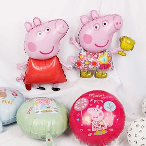 1pc 18inch Peppa Pig Figure Balloon Peppa George Foil Balloons Baby Shower Happy Birthday Party Room Dcorations Kids Toys Gift(China)