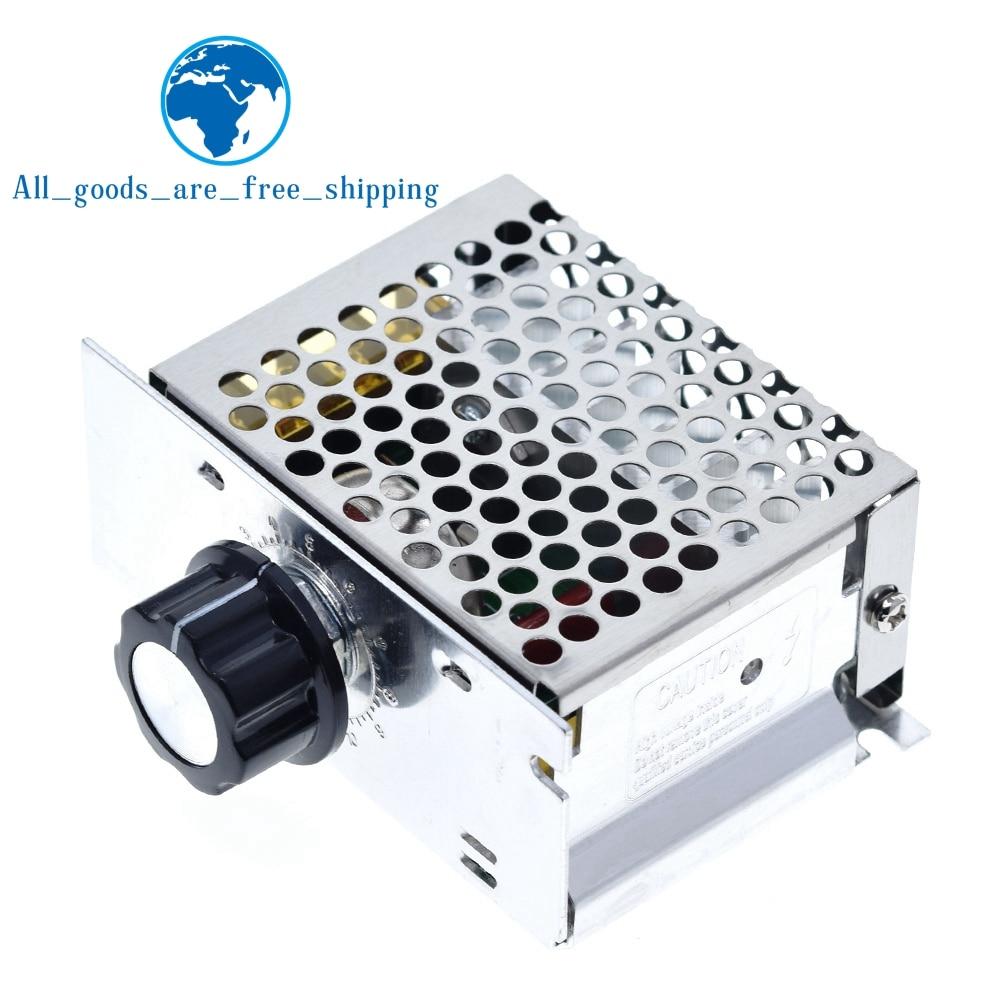 Voltage Regulators 4000W 220V High Power SCR Speed Controller Electronic Voltage Regulator Governor Thermostat BS