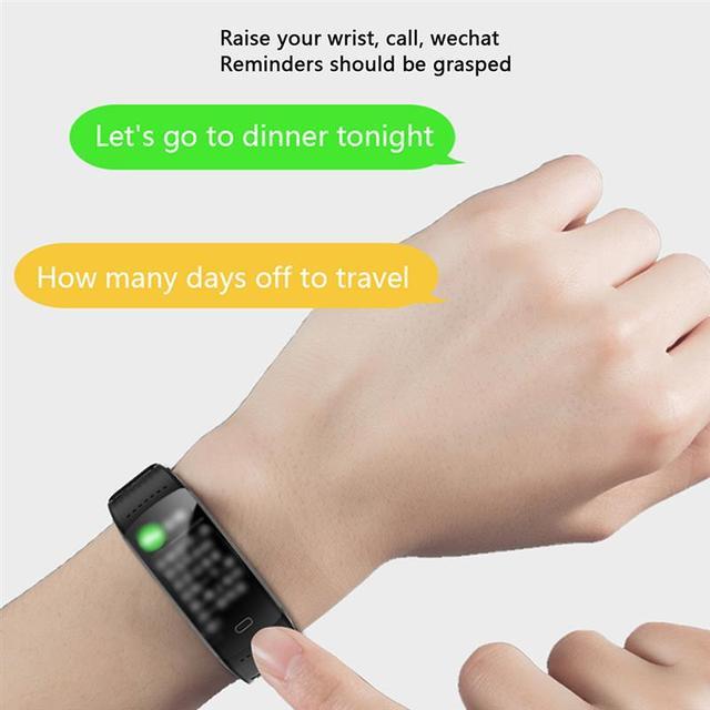 Men Smart Watch Fitness Tracking Smart Wristband Heart Rate Monitoring IP68 Waterproof Women Sports Tracker Bracelet 3