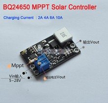 DYKB BQ24650 10A MPPT Solar Panel Controller Lithium Battery Li Ion LiFePO4 Lead Acid Charging 12V 24V Buck Module Adjustable