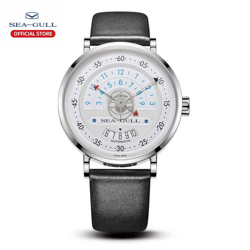 seagull automatic watch men mechanical watch leather watch strap 40mm automatic watch watches mens Leather 2019 819.93.6048H|Mechanical Watches| |  - title=