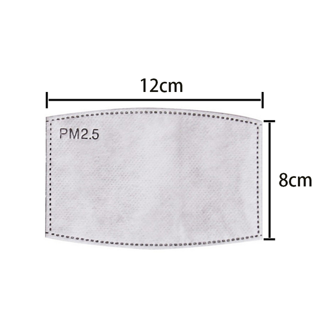 7 Layers PM2.5 Mask Filter Paper 7Ply Anti Dust Mouth Face Mask Carbon Cotton Disposable Filter Protective For PM2.5 Mask 1