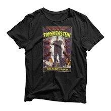 Camiseta das mulheres dos homens assustadores do dia das bruxas do filme de terror inspirado frankenstein