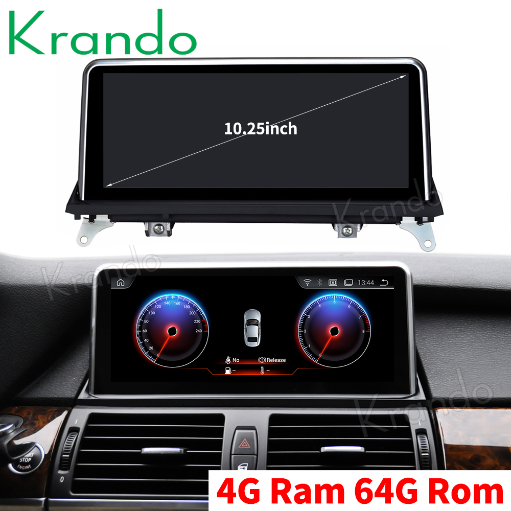 Krando Android 9.0 10.25'' car audio navigation gps for <font><b>BMW</b></font> <font><b>X5</b></font> <font><b>E70</b></font>/X6 E71 2010-2013 player multimedia system with <font><b>bluetooth</b></font> image