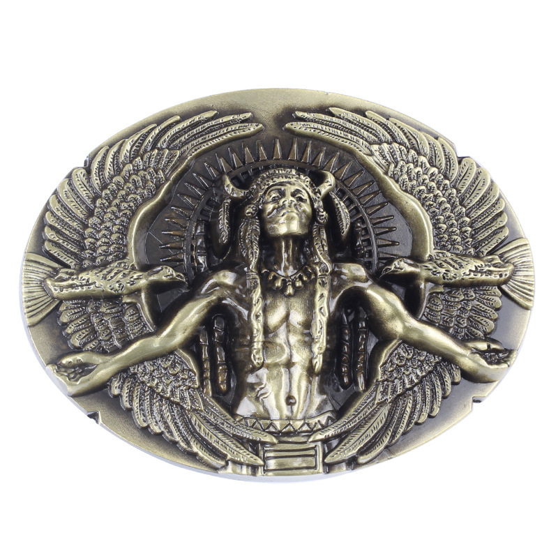 Indian Tribe Belt Buckle  For 3.8cm Width Belt