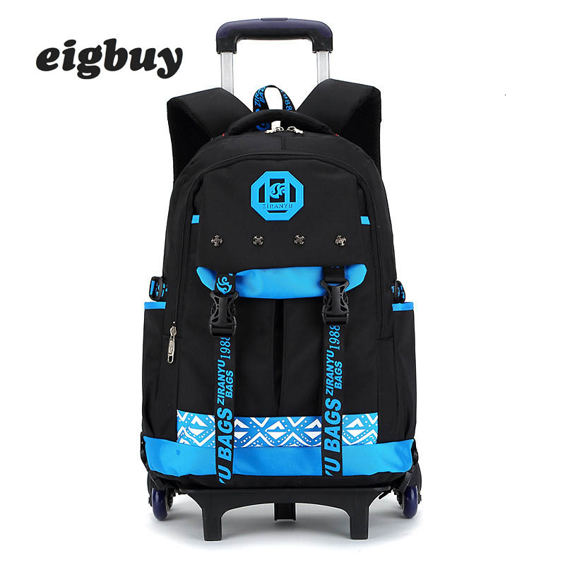 Class Trole Trolley School Bag Detachable Backpack Children Travel Suitcase Bagging Wheels Scroll Knapsack