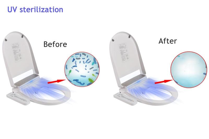 Ecofresh, умное сиденье для унитаза, u образное электрическое биде, сантехника для ванной, УФ антибактериальное автоматическое мытье, подогрев унитаза - 6