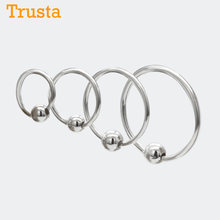 Trusta 100% 925 Sterling Sliver 2pcs Small Tiny Ball Huggie Hoop Earrings Ear Piercing Tragus Helix Cartilage DS156(China)
