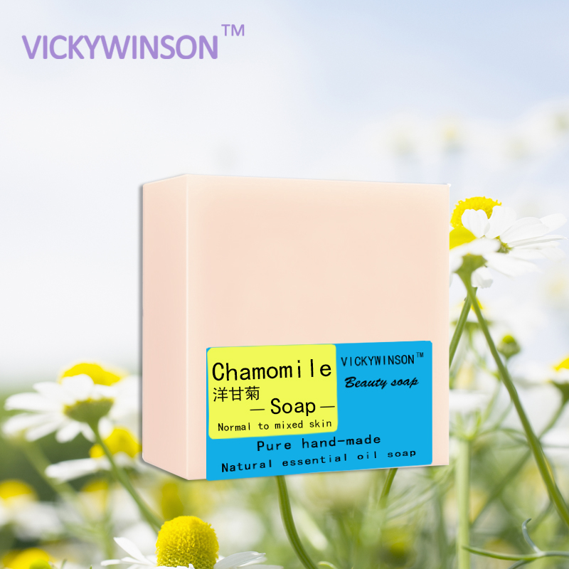 VICKYWINSON Chamomile Handmade Soap 100g Smoothing The Skin Enhance The Elasticity Improve Dry Itchy Skin Microcirculation