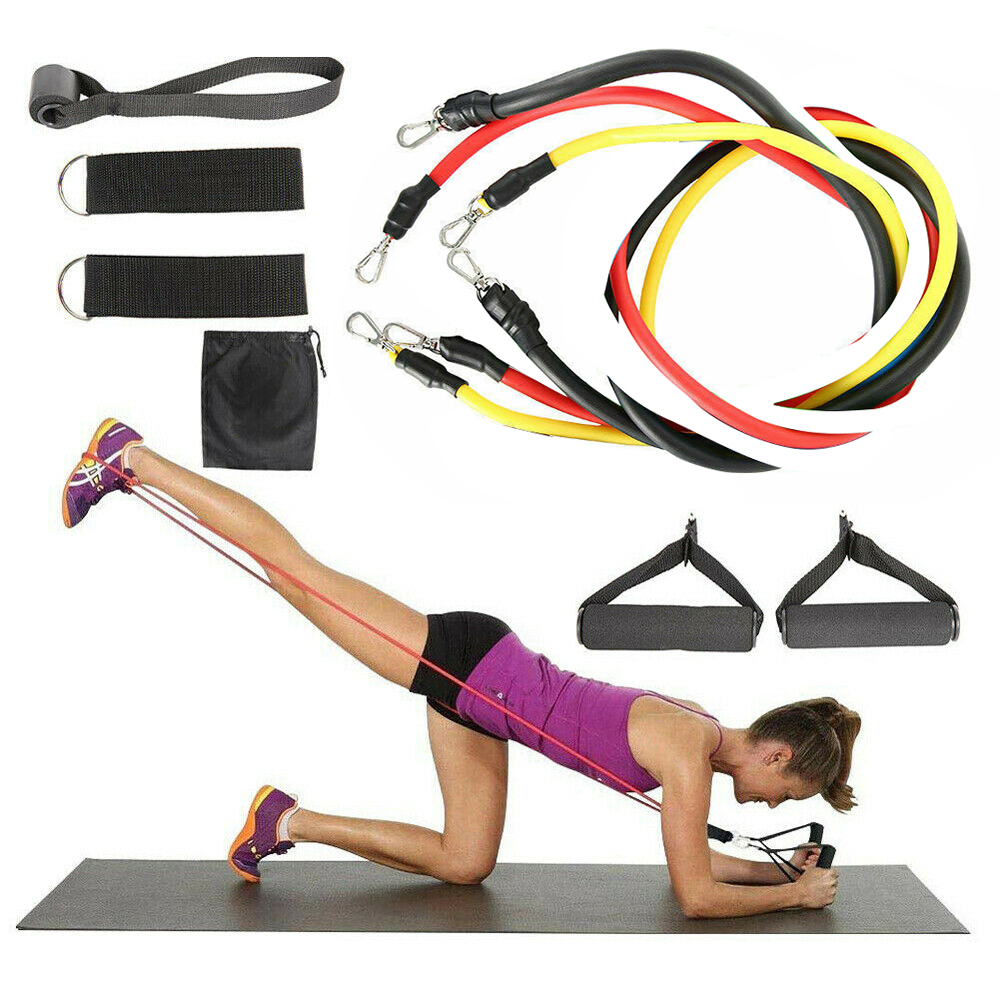 9 Pcs/Set Resistance Bands Set Yoga Tubes Pull Rope Rubber Expander Elastic Bands Fitness Home Gyms Workout Elastic Pull Rope