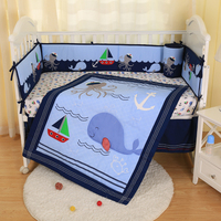 2019 New Baby Bedding Set Baby Cot Quilt Pink Elephant Sheets Comforter Bed Skirt Bumper Bedding