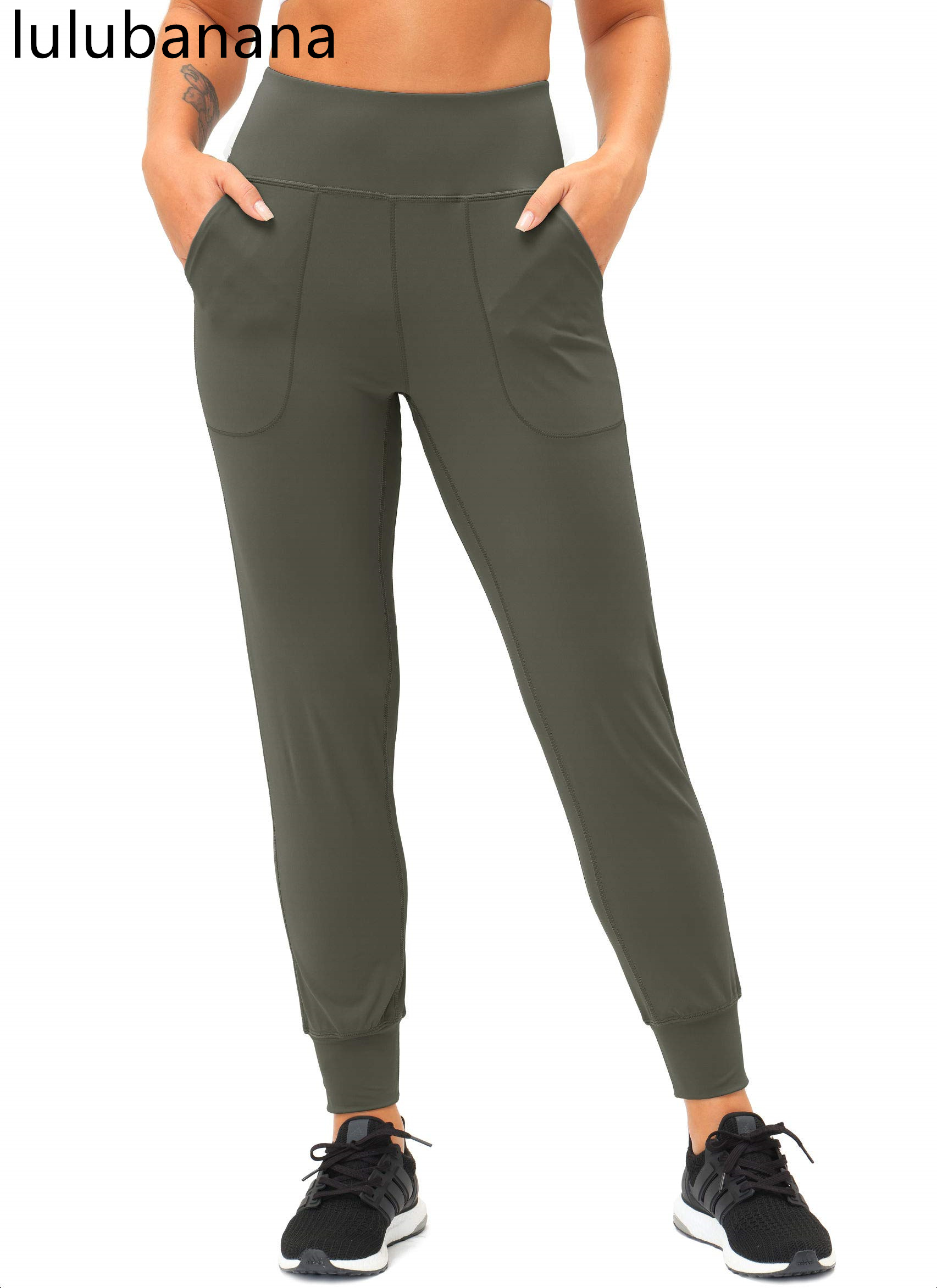 Женские джоггеры Lulubanana с карманами для телефона, с высокой талией, для занятий спортом, йогой, конические штаны для отдыха, Джоггеры для женщ...