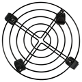 3 шт Горшок для садового растения круглые колеса передвижная тележка Caddy садовая тарелка металлическая подставка