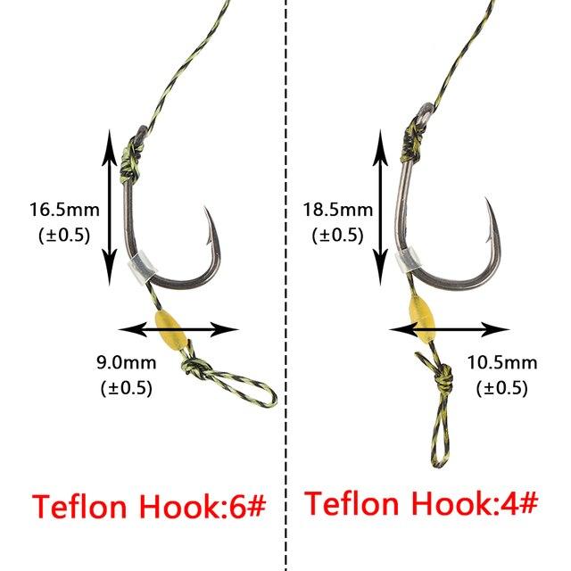 Super 1set/6pcs Carp Fishing Hair Telflon Carp Fishing Hook Fishhooks cb5feb1b7314637725a2e7: CLD-4|CLD-6