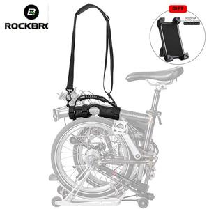 Image 2 - ROCKBROS 접는 자전거 자전거 프레임 캐리 숄더 스트랩 자전거 자전거 캐리어 손잡이 Brompton 자전거 액세서리