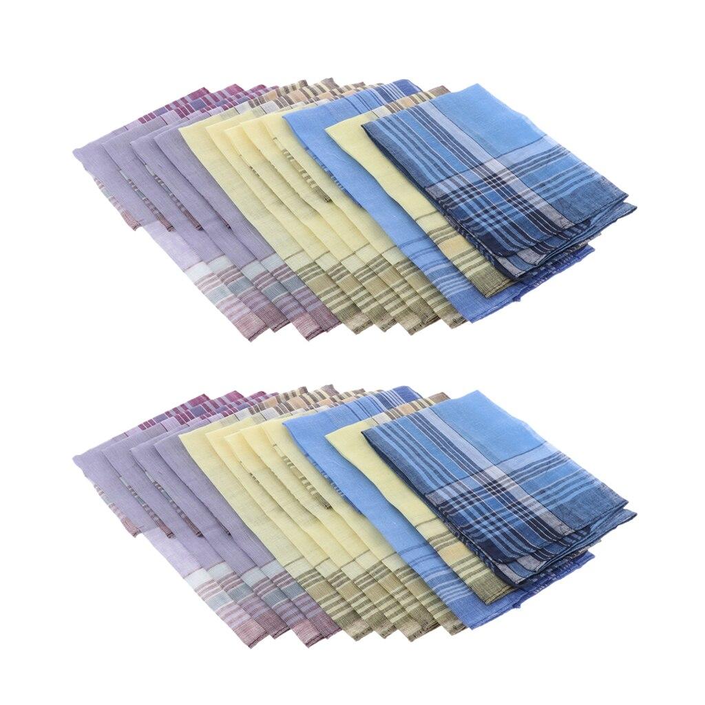 24 пачки мужские клетчатые хлопковые носовые платки 36x35 см Классические карманные квадратные носовые платки мужские костюмные носовые