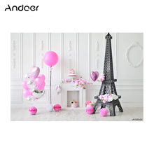 Andoer backgrounds for photo studio Photography Background Birthday Backdrop Cake Balloon Children Baby Girl Kids